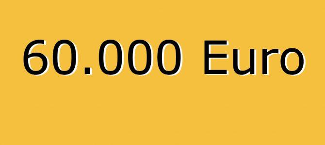 60.000 Euro Marke geknackt